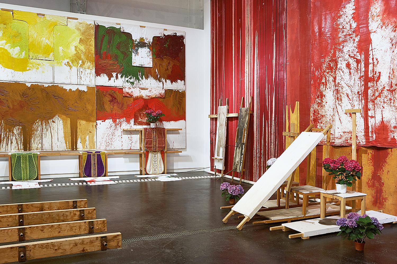 """Ausstellungsansicht """"HERMANN NITSCH - RITUAL"""" © Manfred Thumberger"""