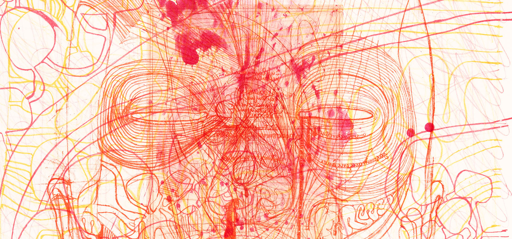 "O.T., from portfolio III, ""The architecture of the Orgien Mysterien Theatre"", lithography and etching, edition 35, 1984-92, 106 x 75 cm © Atelier Hermann Nitsch"