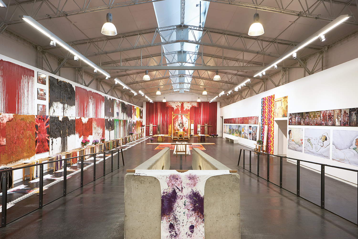 "View of exhibition""HERMANN NITSCH - RITUAL"" © Manfred Thumberger"