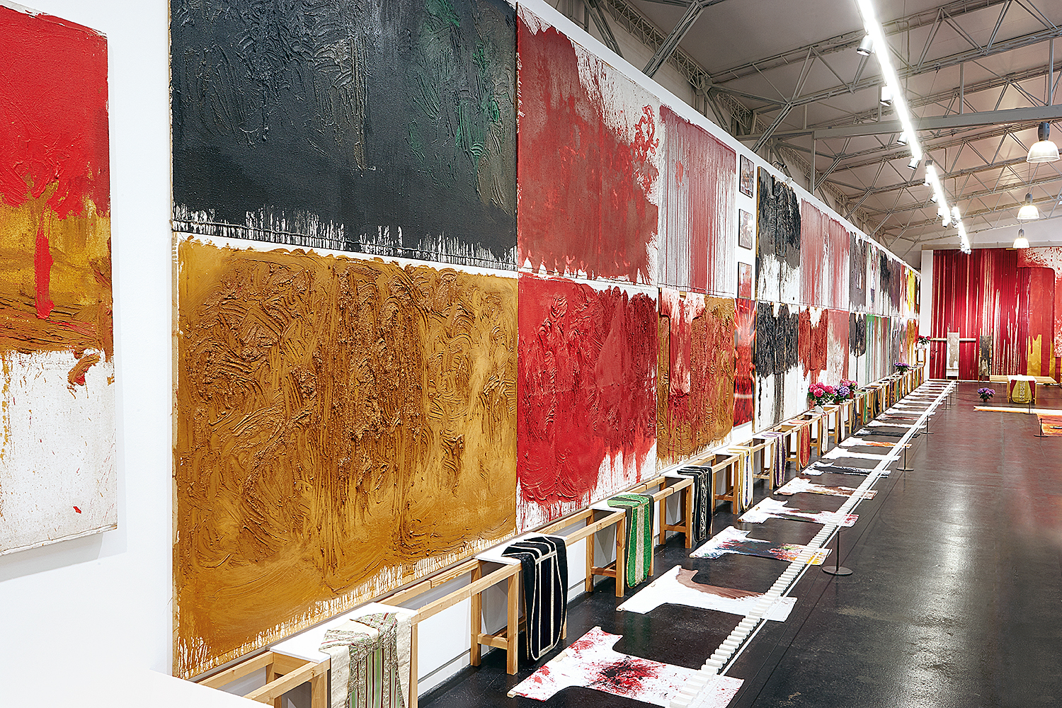 "View of exhibition ""HERMANN NITSCH - RITUAL"" © Manfred Thumberger"