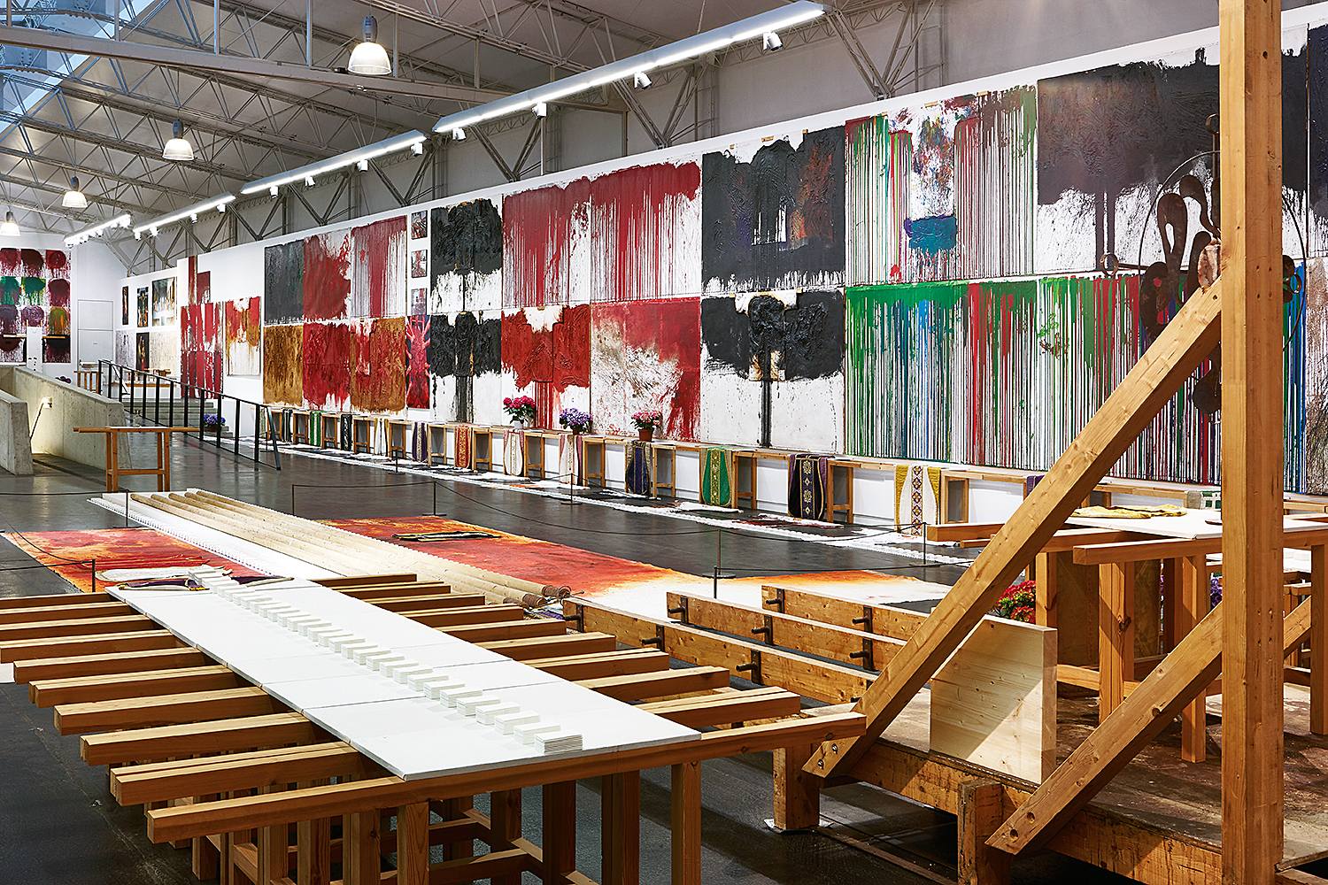 """View of exhibition """"HERMANN NITSCH - RITUAL"""" © Manfred Thumberger"""