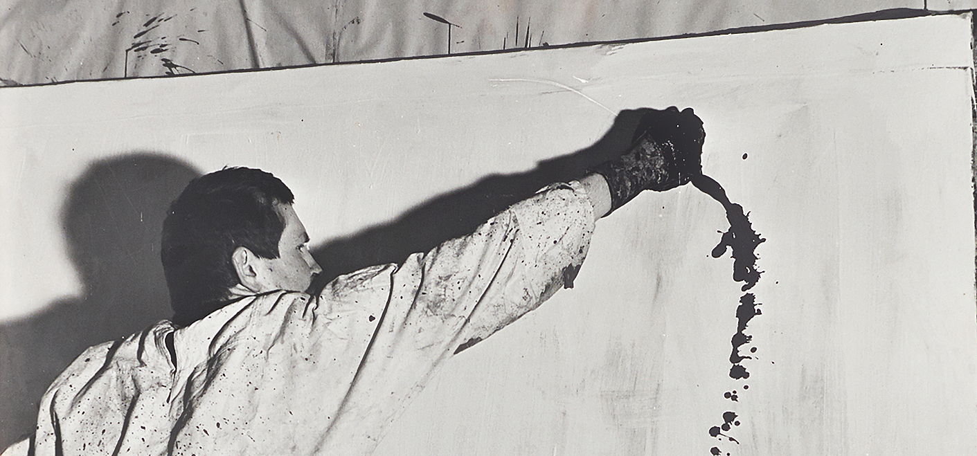 8th painting action, 1963 © Photography: K. Bauer | P. Jurkowitsch